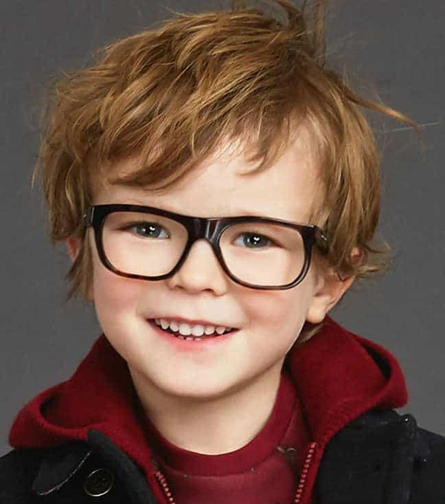 Boys Squared Havana Glasses - DG 3158 502S