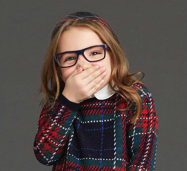 Girls Red Blue Squared Glasses- DG 3205 1872