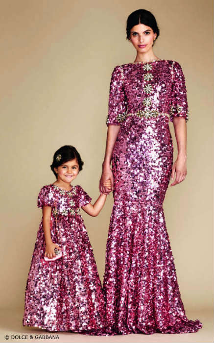 Dolce & Gabbana Mommy Mini Me Sparkling Pink Evening Dress