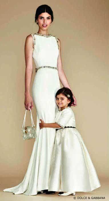Dolce&Gabbana Mommy Mini Me White Evening Dress