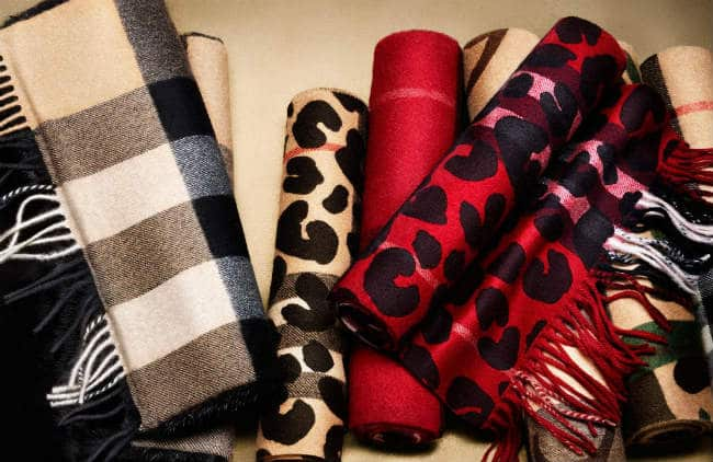 Soft Burberry Cashmere scarves in Seasonal Patterns and Prints