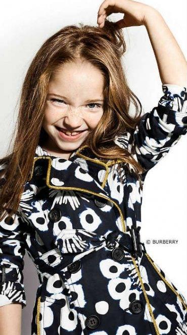 Burberry Girls Mini Me Tie-Dye Trench Coat