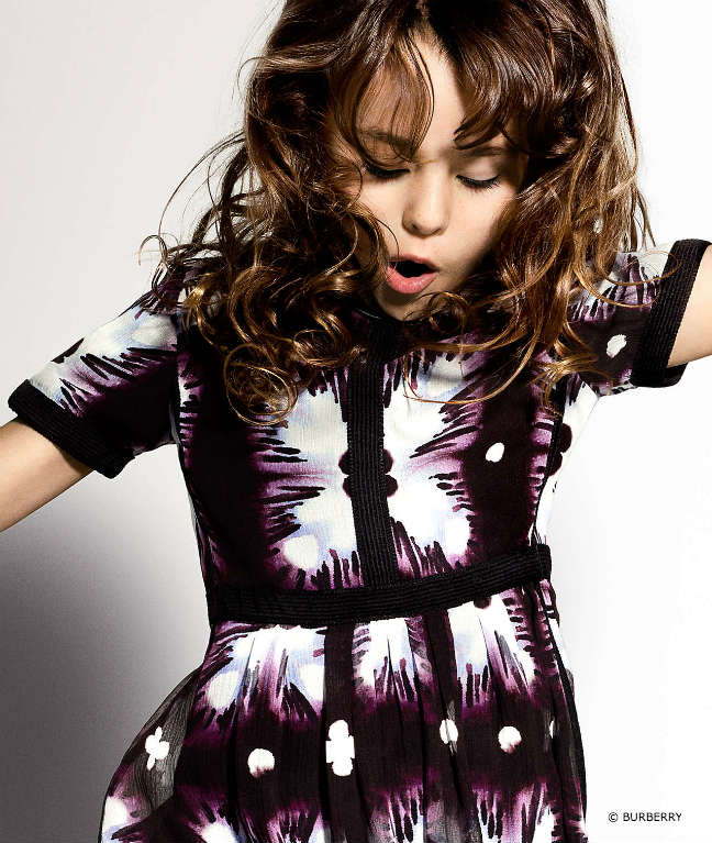 Burberry Girls Techno Print Dress SS16