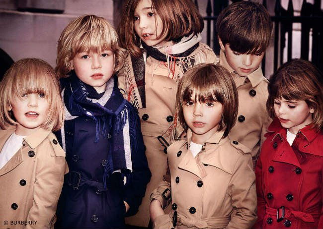 Burberry Childrenswear Fall Winter 2015 Trench Coats