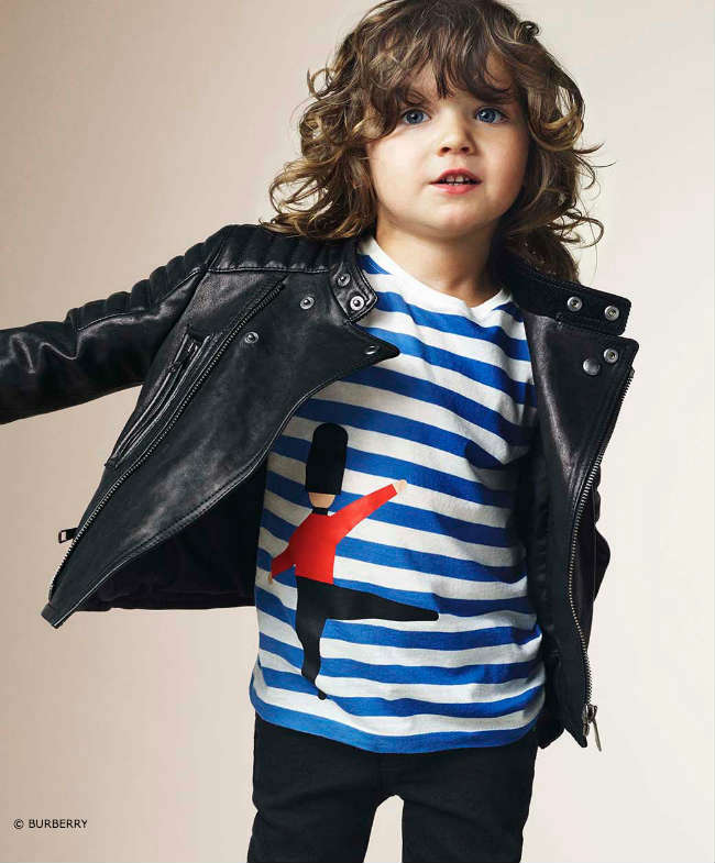Burberry Boys Solider Shirt & Leather Jacket