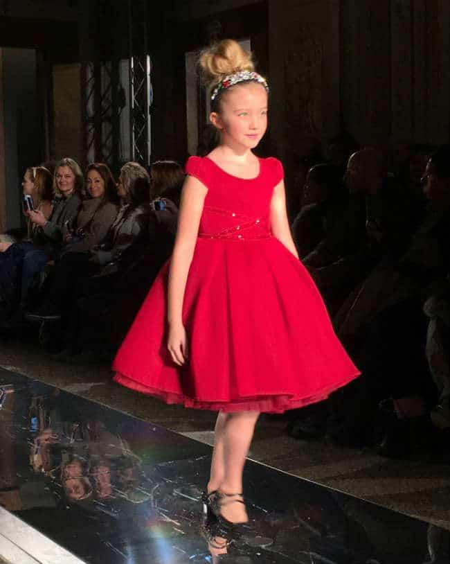 Monnalisa Girls Red Dress Fall Winter 2016