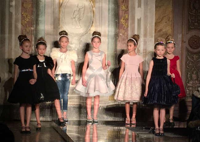 Monnalisa Girls Couture Evening Dresses Fall Winter 2016
