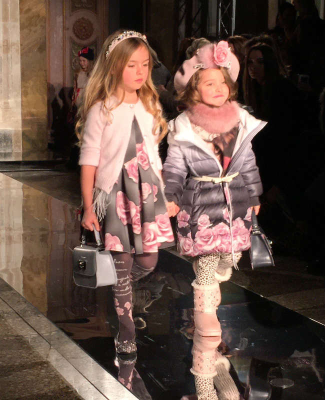 Monnalisa Little Girl Floral Collection Fall Winter 2016