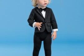 DSQUARED2 Boys Black Tuxedo Babygrow