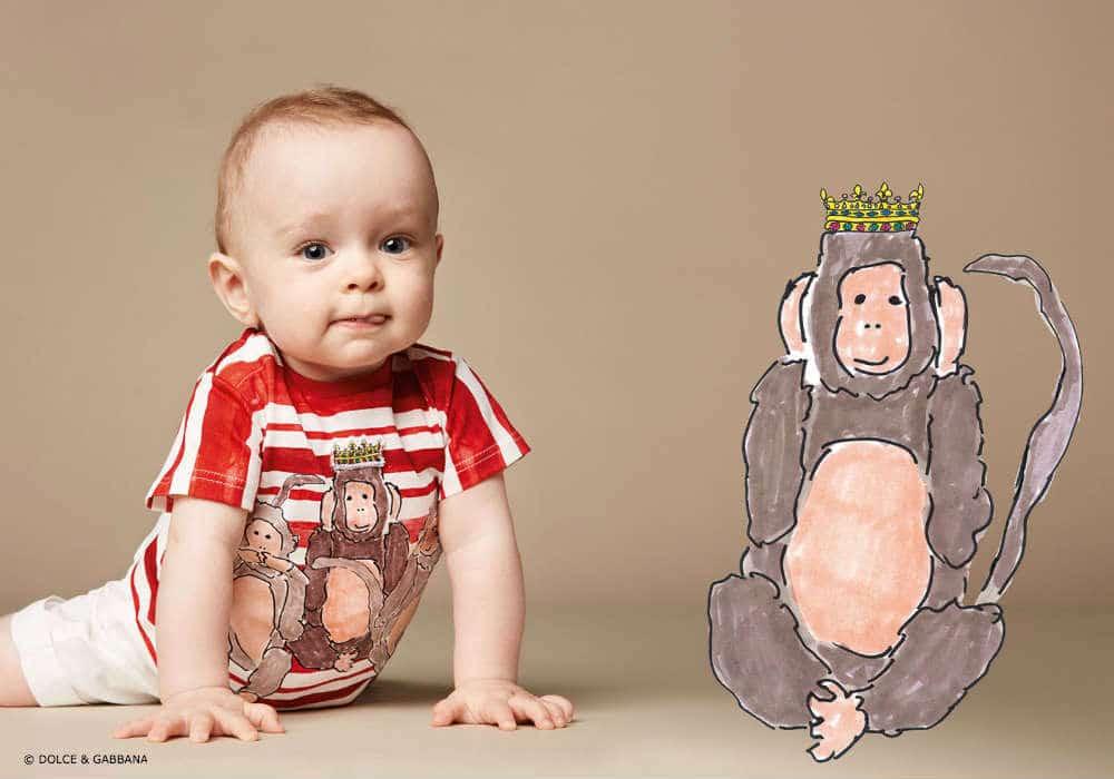 Dolce Gabbana Baby Boy Monkey Look Spring Summer 2016