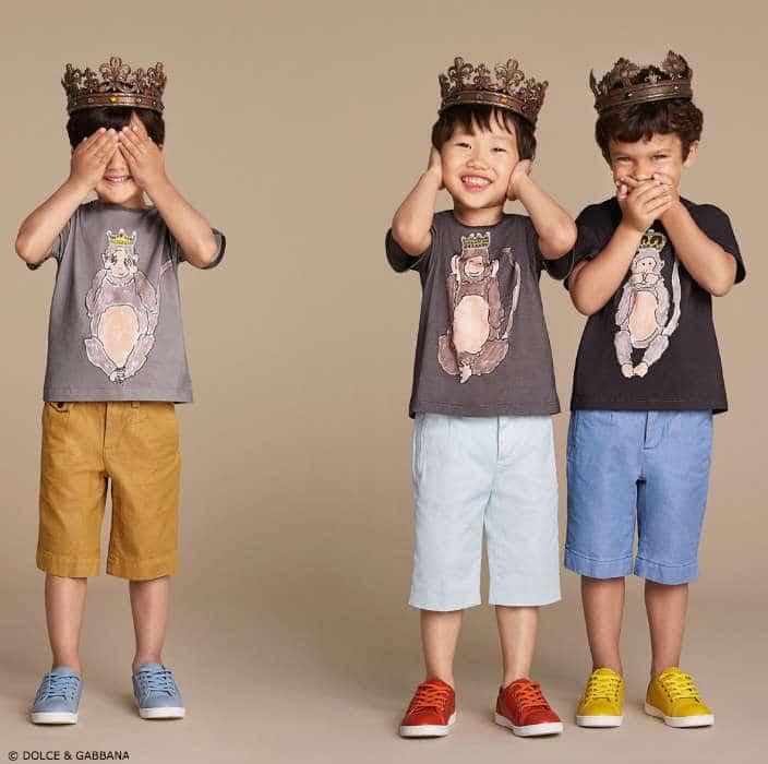 Dolce & Gabbana Boys Monkey King Spring Summer 2016