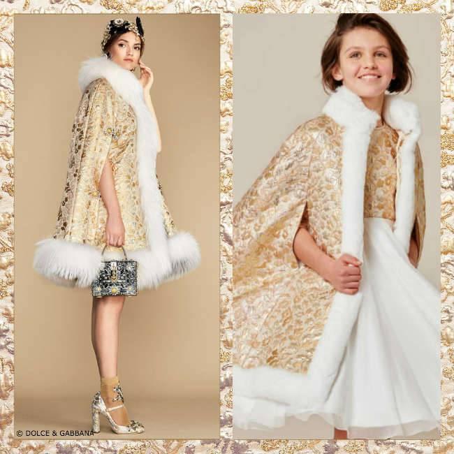 Dolce Gabbana Girls Mini-Me Cape SS16
