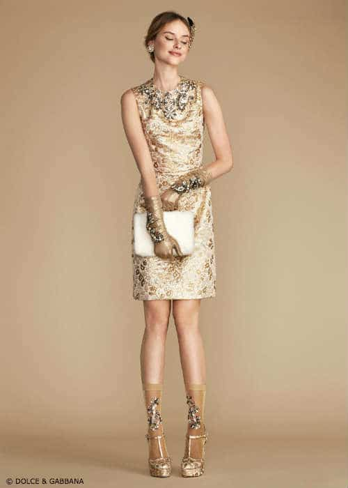Dolce Gabbana Sparkling Night Womens Dress