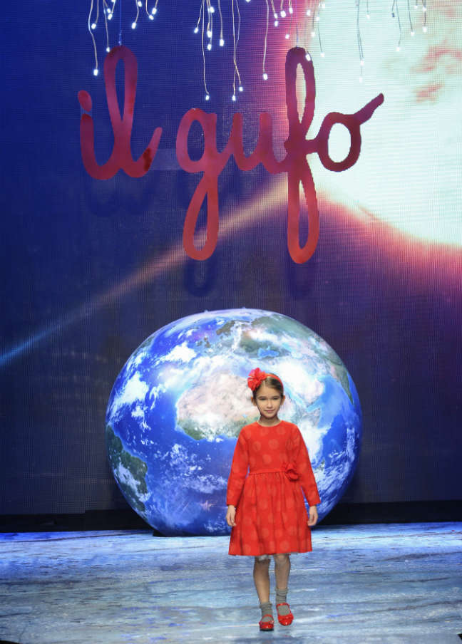 Il Gufo Girls Red Dress Fall Winter 2016