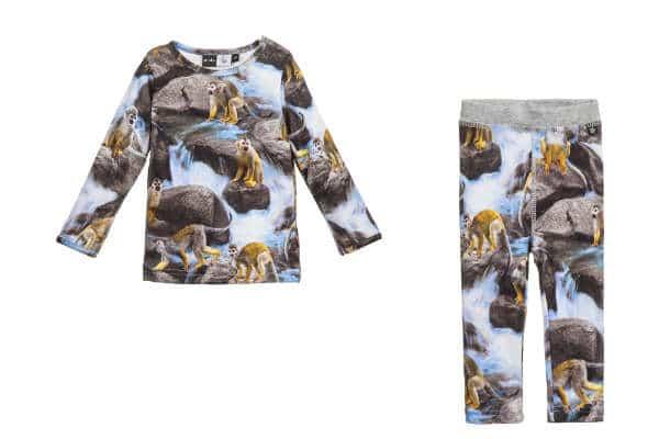 MOLO Grey Squirrel Monkey Baby 'Eva' T-Shirt