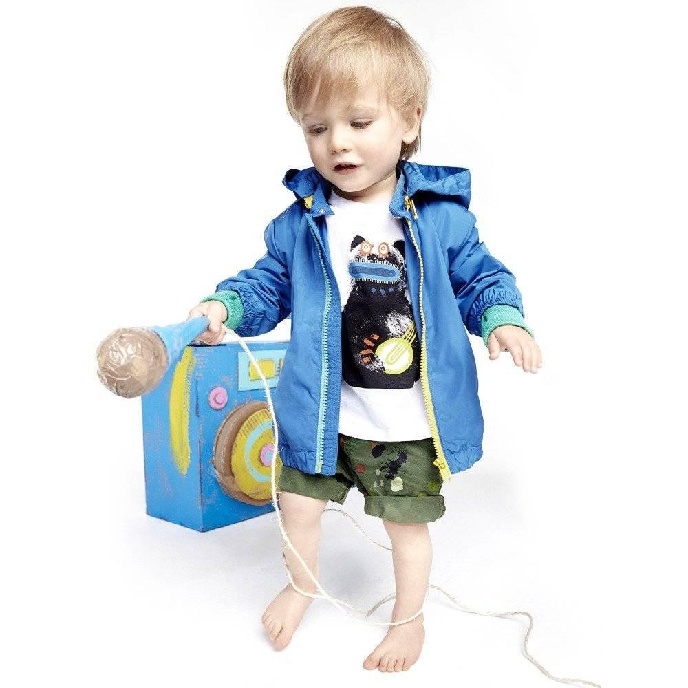 STELLA MCCARTNEY KIDS Green Paint Splat 'Lucas' Baby Shorts