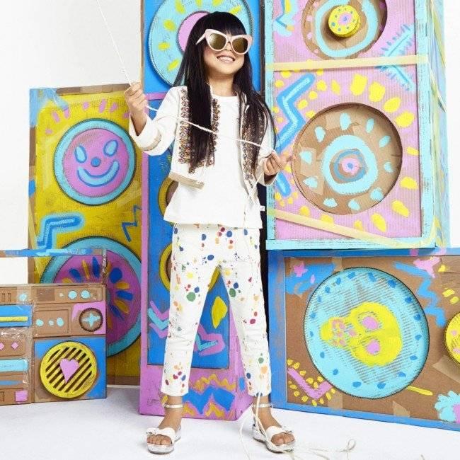 STELLA MCCARTNEY KIDS Ivory Organic Cotton Military Will Jacket & Ivory Lou Jeans