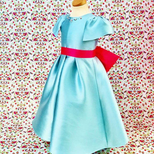 San Andres Milano Girls Blue Dress