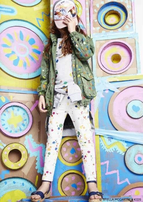 Stella McCartney Kids SS16 Girls Paint Splat Outfit
