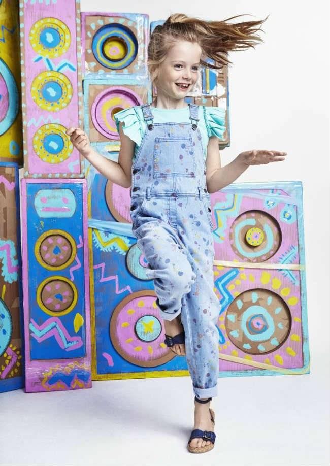 Stella McCartney Kids SS16 Paint Splat Overalls