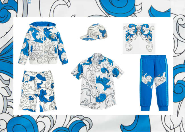 Young Versace Blue Baroque Trend