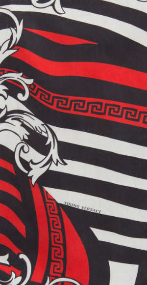 Young Versace Striped Red Black Baroque Trend
