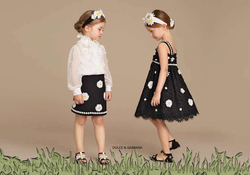 Dolce & Gabbana Girls Mini Me Daisy Collection Spring Summer 2016