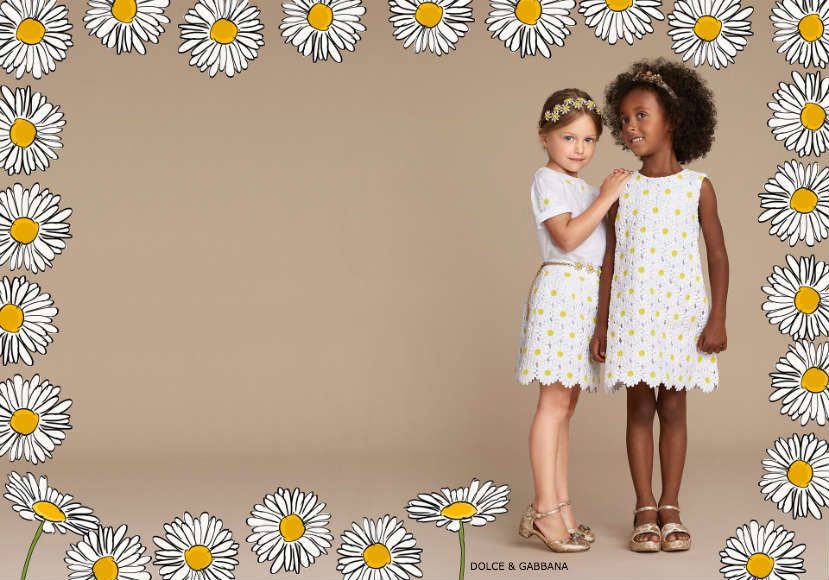 Dolce & Gabbana Girls Daisy Collection - Spring Summer 2016
