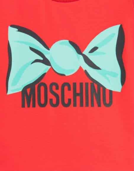 Moschino Girls Red Sweet Wrapper Theme