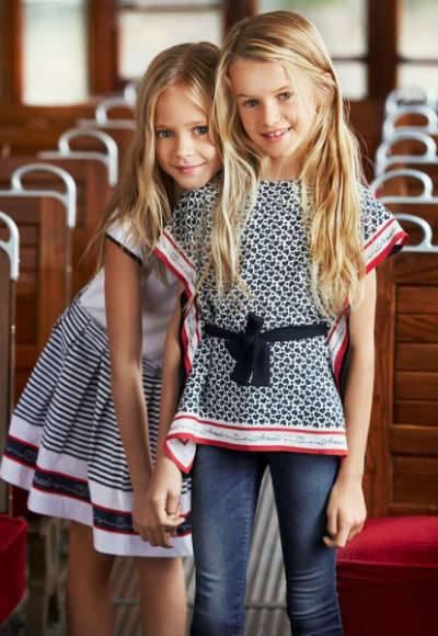 ARMANI TEEN Girls Navy Blue Heart Logo Print Blouse
