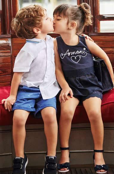 Armani Navy Blue Heart Dress