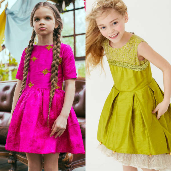 Lazy Francis Pink and Green Couture Dresses