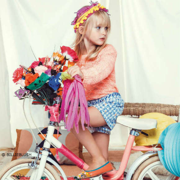 BILLIEBLUSH Girls Neon Pink Knitted Cotton Sweater