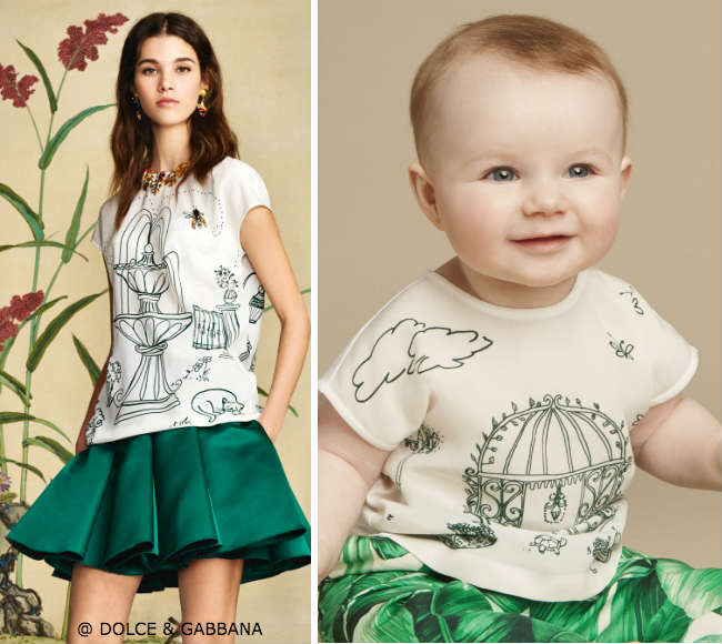 Dolce Gabbana Baby Girls Mini Me Botanical Garden Shirt