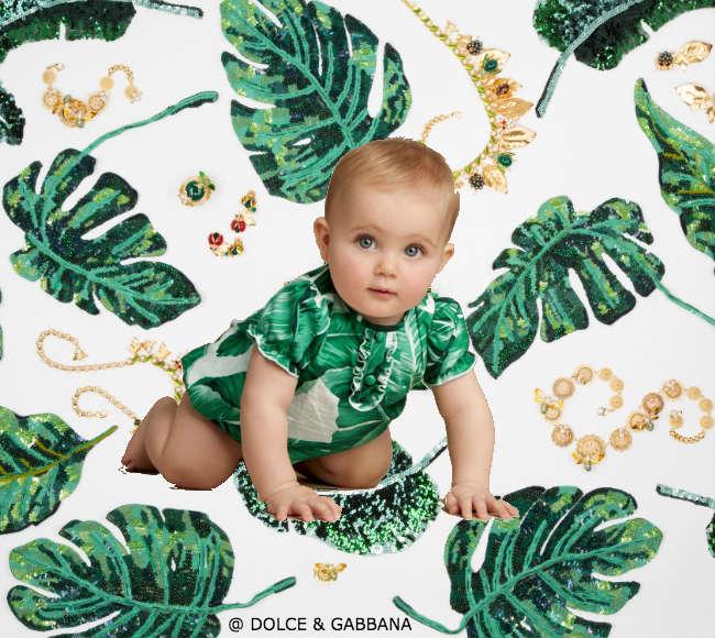 Dolce Gabbana Baby Mini Me Banana Leaf Outfit