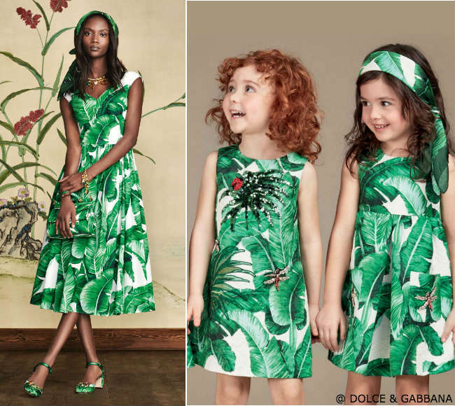 Dolce gabbana Banana Leaf Dress