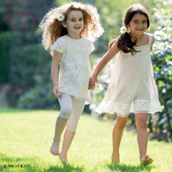 MALVI & CO Grey & White Floral Jersey Dress