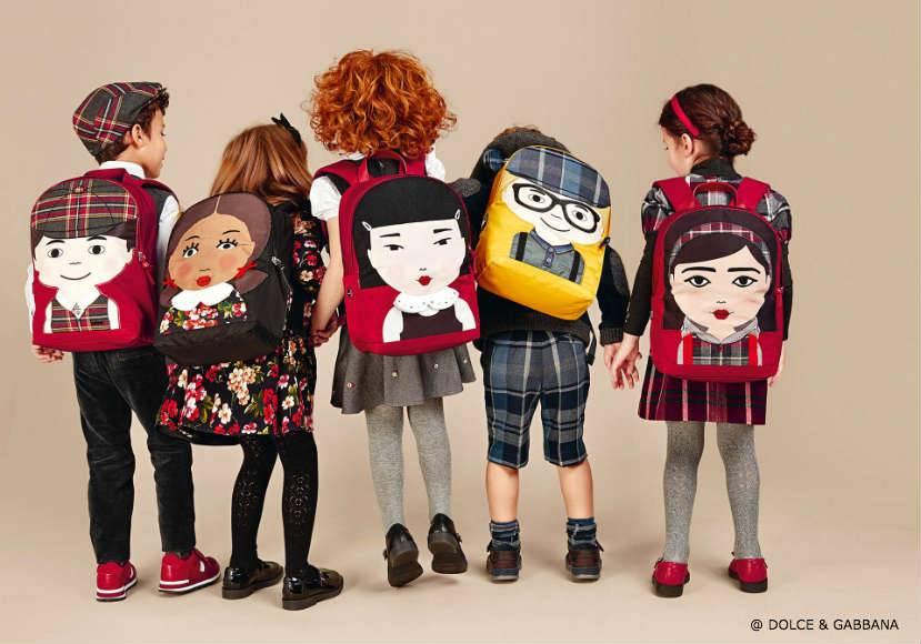 Dolce Gabbana Child Back to School Backpacks