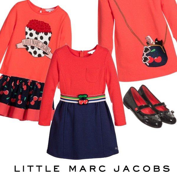 Little Marc Jacobs Girls Cherry Accents fW16