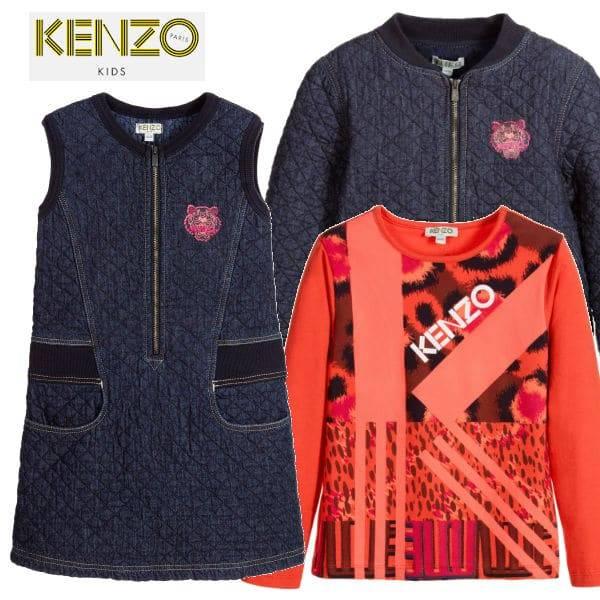 Kenzo Blue Quilted Denim Jungle Vibes Dress Pink Orange Jungle Vibes T-Shirt