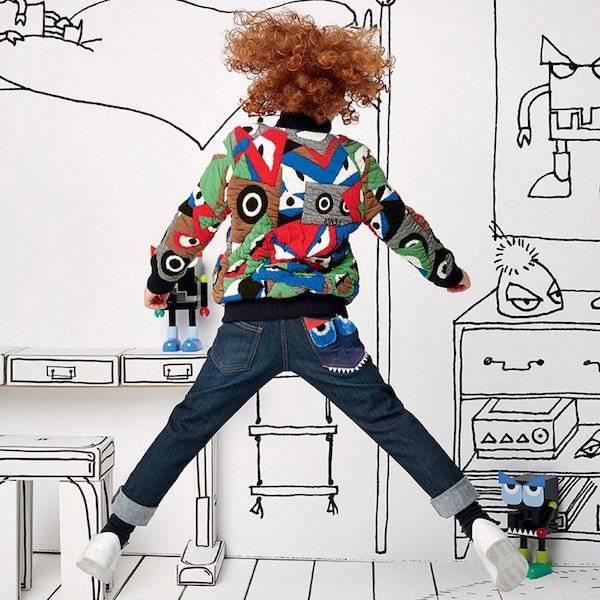 FENDI Quilted Cotton Jacquard 'Monster' Varsity Jacket
