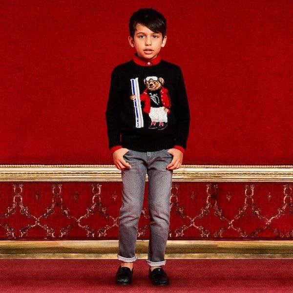 Ralph Lauren Boys Black Cotton Knit Sweater