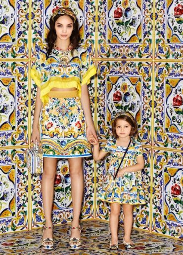 Dolce & Gabbana Mini Me Girls Majolica Trend Fall Winter 2016