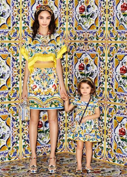 Dolce & Gabbana Mini Me Girls Majolica Trend Fall Winter 2016