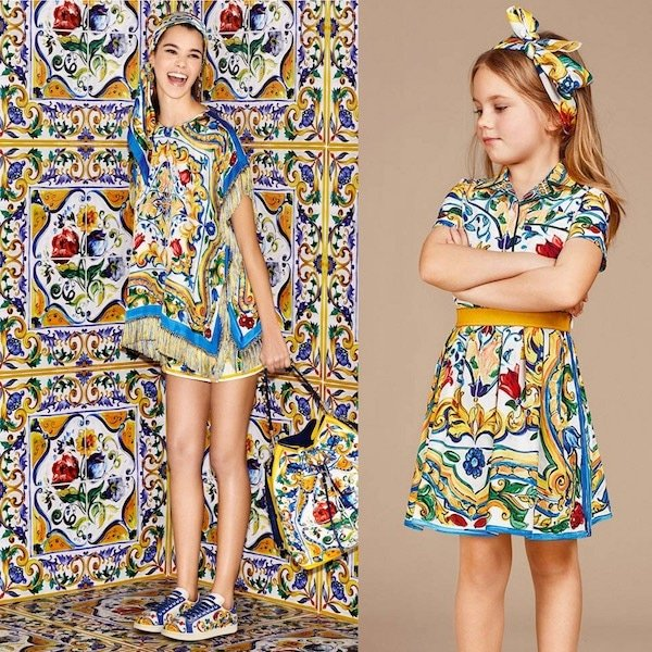 Dolce & Gabbana Mommy and Me Girls Majolica Dress