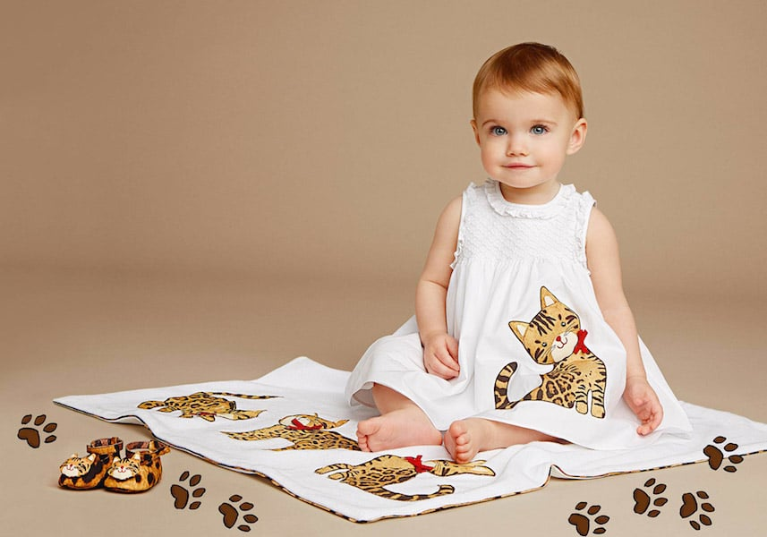 dolce and gabbana baby girls mini me kitty cat trend