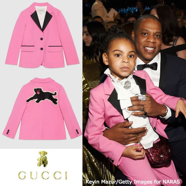 Blue Ivy Wearing Pink Gucci Mini Me Prince Outfit