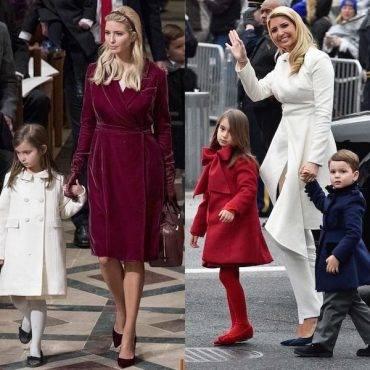 Ivanka Trump with Children Arabella & Joseph Wearing Oscar de la Renta Inauguration Parade