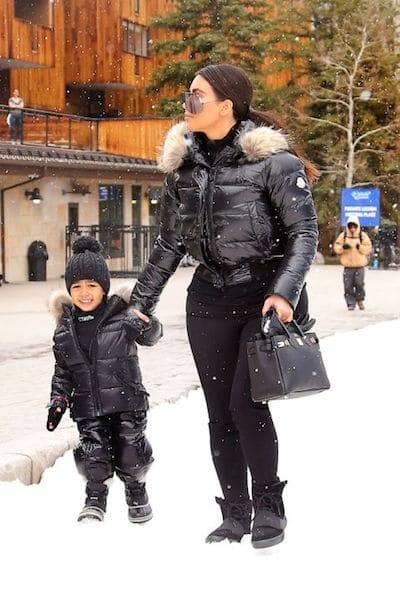 Kim Kardashian North West Mommy and Me Black Ski Jackets