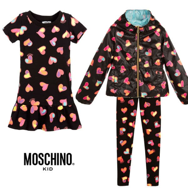 Moschino Kid Black Heart Look